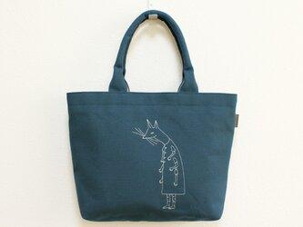 《受注制作》クーネッツの帆布トートバッグ/ブルーの画像
