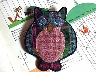 フクロウのバッグチャームの画像