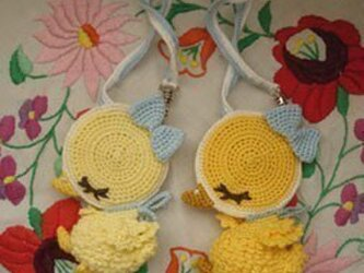 お眠りたまごボーロダックちゃんの装着リングポケット*(1羽)の画像