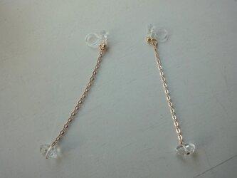 ハーキマーダイヤモンドのイヤリングの画像