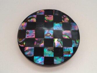 【受注生産】螺鈿姫鏡「市松」の画像
