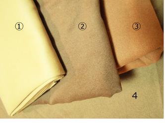 w.n様オーダー 可愛い衿のハーフコート 《ダブルフェイス・オーカー色》の画像