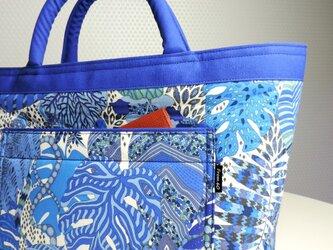 [販売済] Fornasetti Forest BLUE From60 x LIBERTY TOTEの画像
