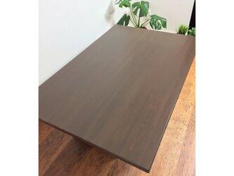 【みー様オーダー品】折れ脚テーブル 75x75x37cm ウォールナット色の画像