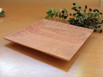 彫り角皿 -山桜23cm-の画像