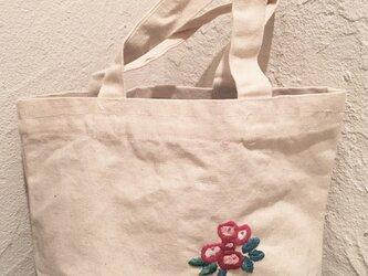 ミニトートバッグ 花の画像