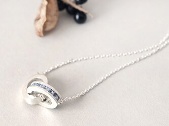 アクアマリン リング メンズ ネックレス シルバー925の画像
