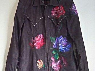 薔薇のジャケット 《手描きオーダーメイド作品》の画像