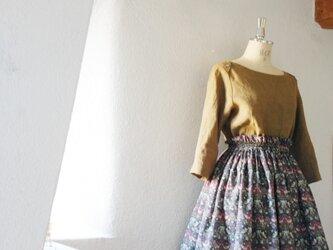 2016A/W Liberty: strawberry thief チュチュみたいなギャザースカートの画像