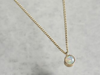 K18 Opal birth stone pendant {P033K18OP}の画像
