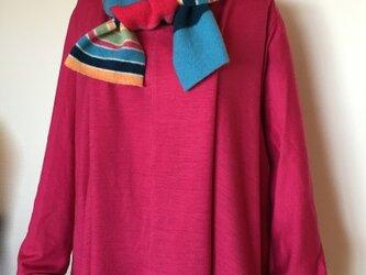 フレアーウールジャージプルオーバー ピンクの画像