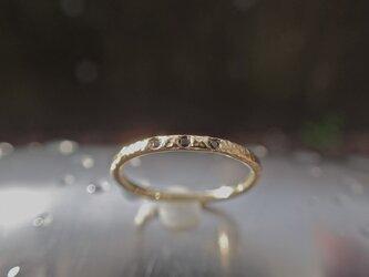 スターライト リング(Starlight Ring) K18 Yellow Gold with Black Diamondの画像