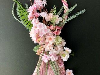 Cherry blossom Tassel wreathの画像
