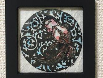 切り絵 金魚の画像