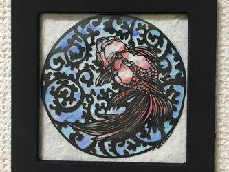 切り絵 金魚2の画像