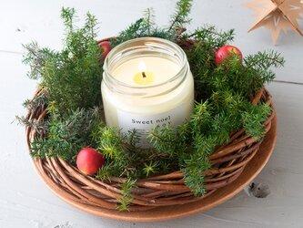 クリスマスのアロマキャンドル/シナモン香る クリスマスブレンド M (Sweet noel)の画像