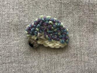 ハリネズミ(紫)*ブローチの画像