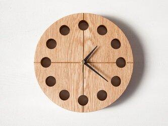 木の時計マル(Φ240) No2 | ナラ【針、選択可】の画像