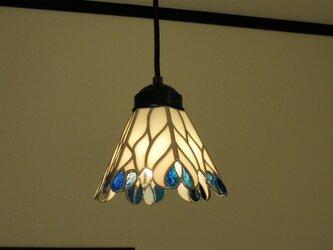 レインドロップ(ステンドグラスペンダントライト )天井のおしゃれガラス照明 Mサイズ・5の画像