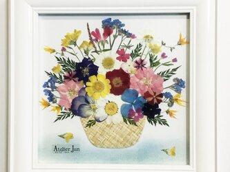花かご(15×15サイズ)額付きの画像