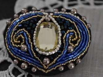 ブローチ(青)の画像