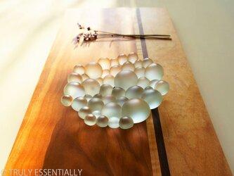 艶消しガラスのトレイ -「 まるいガラス 」●11cmの画像