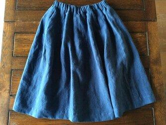 受注制作:アイリッシュリネン100%のほおずきスカートの画像