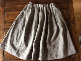 受注制作:ノルマンディーリネン100%のほおずきスカート4色の画像