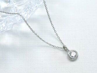 Pt900 ダイアモンド0.15ct ネックレス(M-N004)の画像