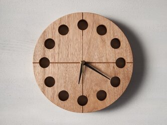 木の時計マル(Φ240) No19   クルミ【針、選択可】の画像