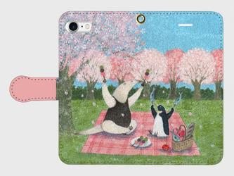 iPhone/手帳型スマホケース「花より団子」(受注生産)の画像