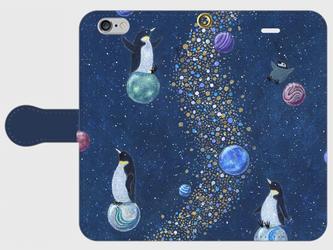 iPhone/手帳型スマホケース「マーブル プラネット」(受注生産)の画像
