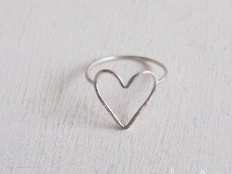 【再販】- Silver - I Heart You Ring - thinの画像