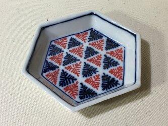 Z204 磁器染付六角小皿の画像