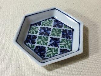 Z205 磁器染付六角小皿の画像