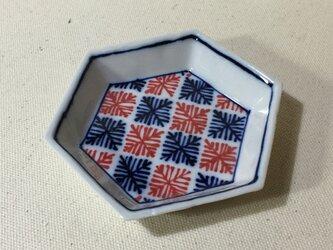 Z206 磁器染付六角小皿の画像
