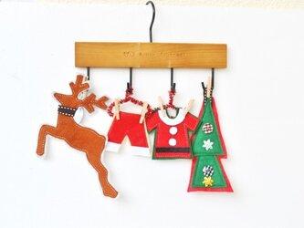 可愛いクリスマスモチーフのミニミニハンガー飾り♪①の画像