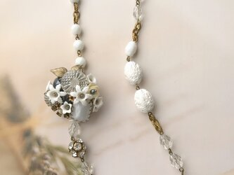fleur de neige*雪の花のブローチ&ネックレスの画像