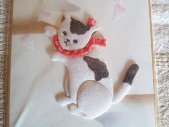 ミニ色紙 猫の戯れの画像