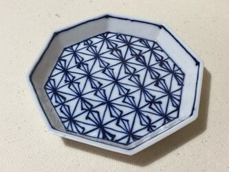 Z231 磁器染付八角皿の画像