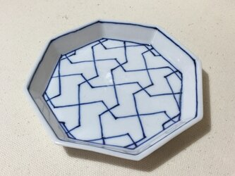 Z232 磁器染付八角皿の画像