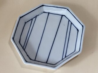Z235 磁器染付八角皿の画像