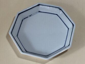 Z236 磁器染付八角皿の画像