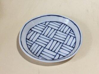 Z241 磁器染付丸皿の画像