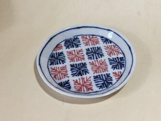 Z242 磁器染付丸皿の画像