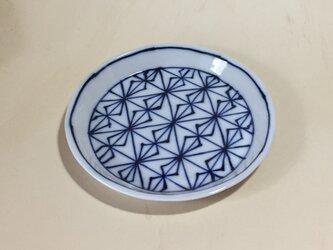 Z243 磁器染付丸皿の画像