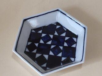 Z208 磁器染付六角小皿の画像