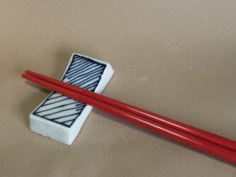 Z101 磁器染付箸置きの画像