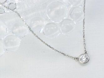 Pt900 ダイアモンド0.15ct ネックレス(G-N008)の画像