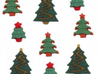 アメリカ ボタンガローア ボタン9個セット-クリスマスツリー B-0961の画像